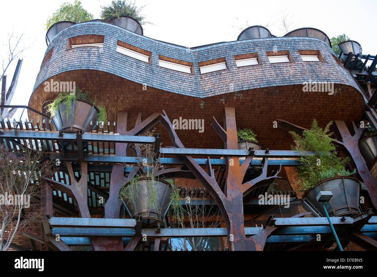 Europa Italia Piemonte Torino la arquitectura moderna a través de Chiabrera el Treehouse por Luciano Pia Imagen De Stock