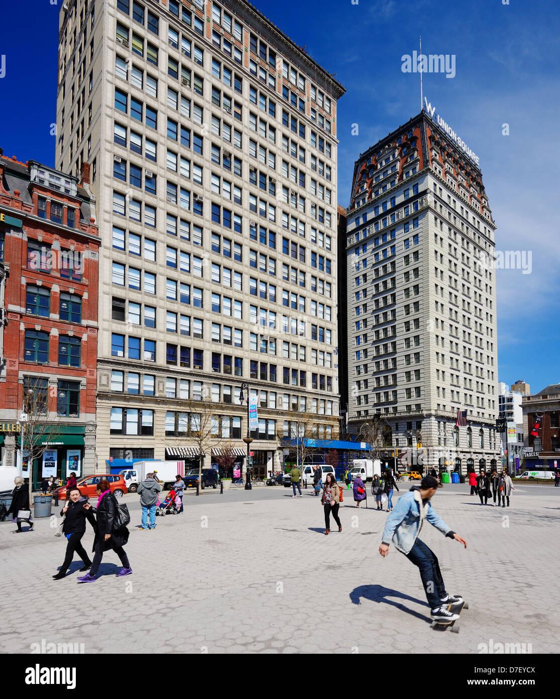 Northend de Union Square, en la Ciudad de Nueva York Imagen De Stock