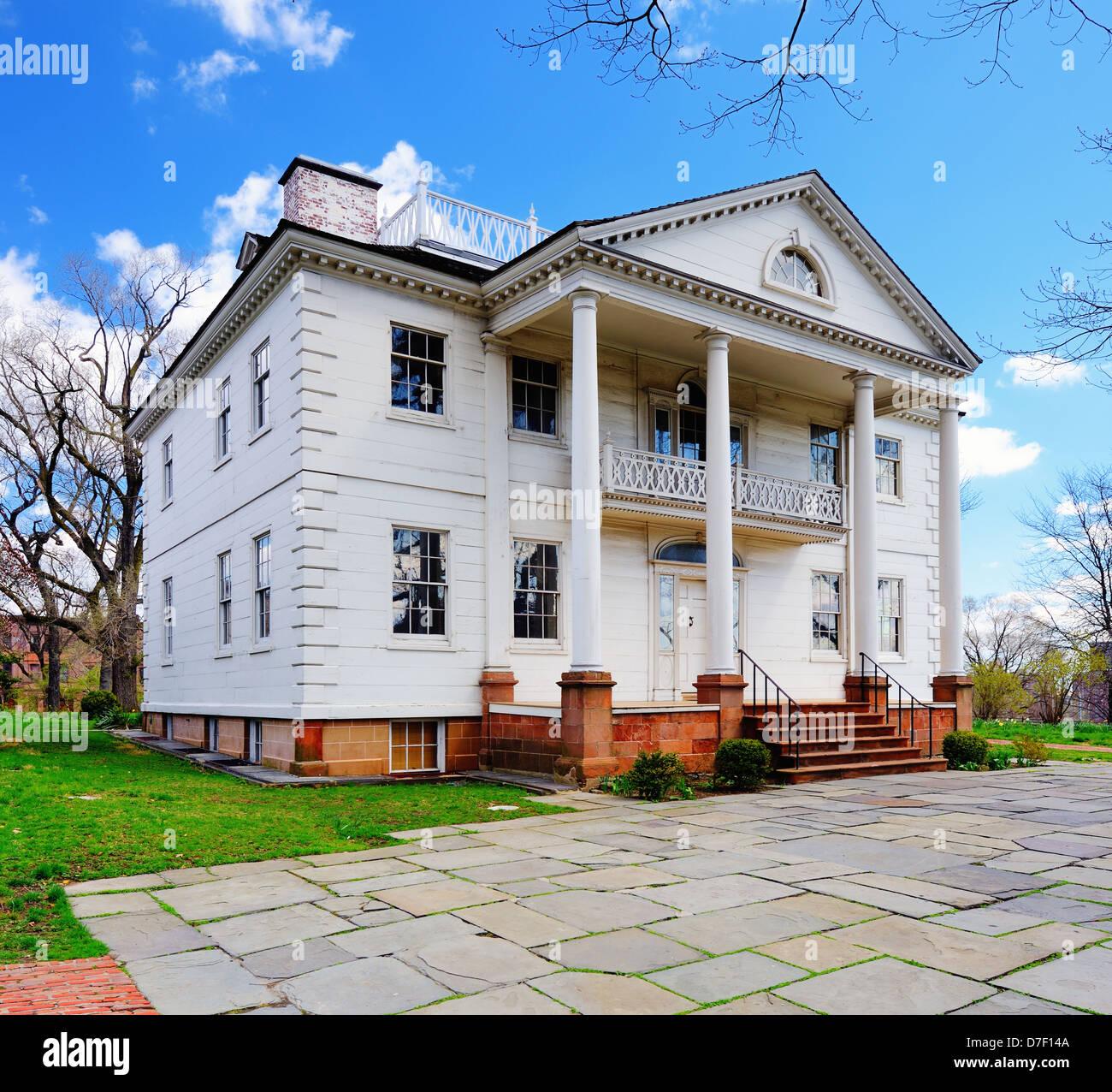 La histórica mansión Morris-Jumel en Washington Heights, Nueva York, Nueva York, Estados Unidos. Imagen De Stock