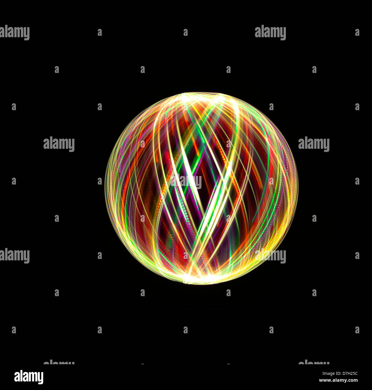 Luz orbes y esferas de pintura Foto de stock
