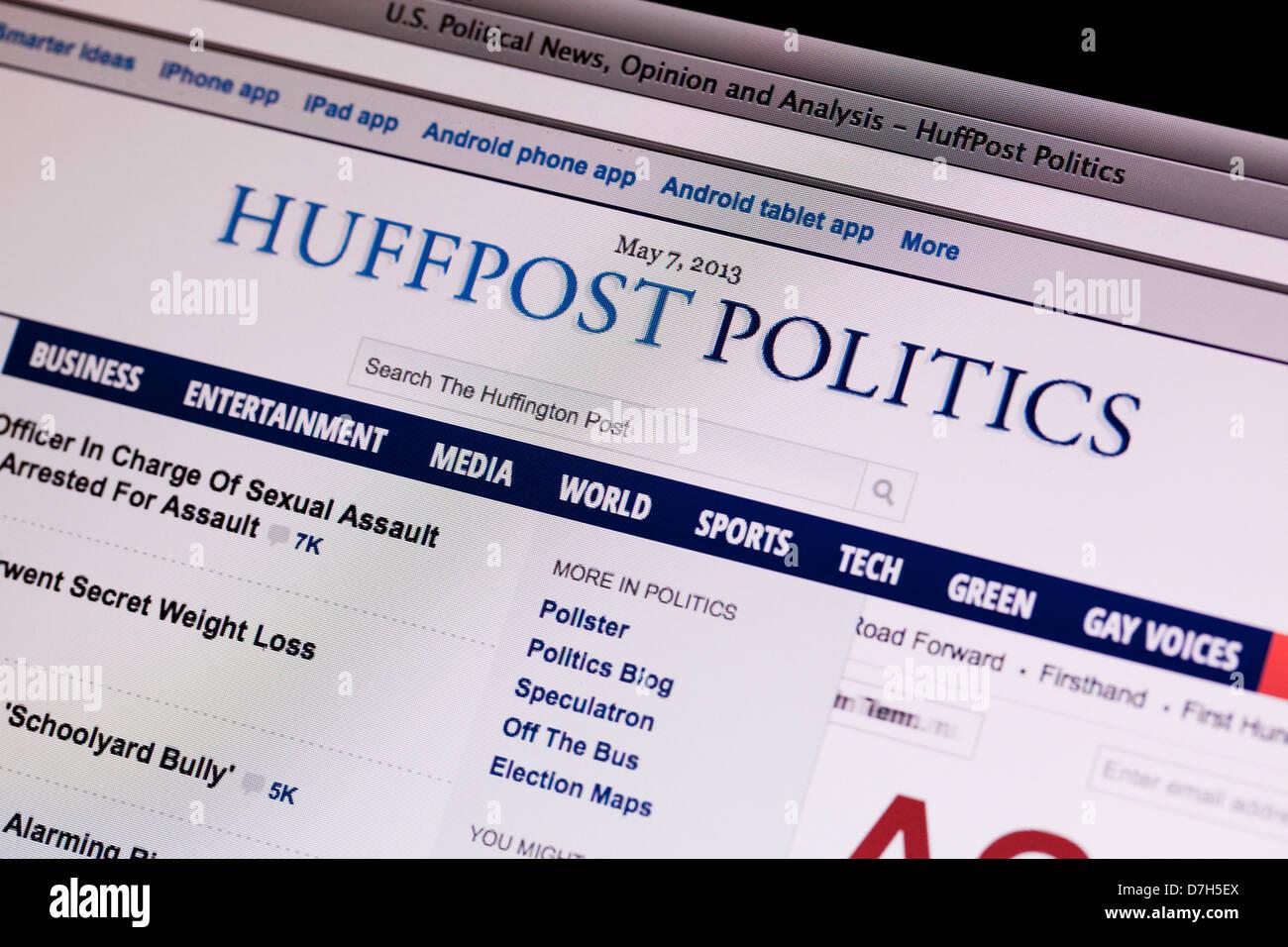 Huffington Post política sitio en la pantalla Imagen De Stock