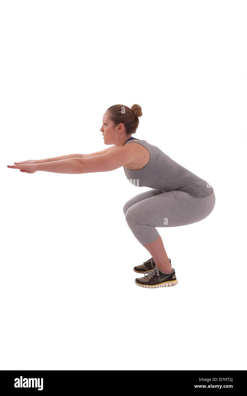 Rutina de ejercicios. Imagen De Stock