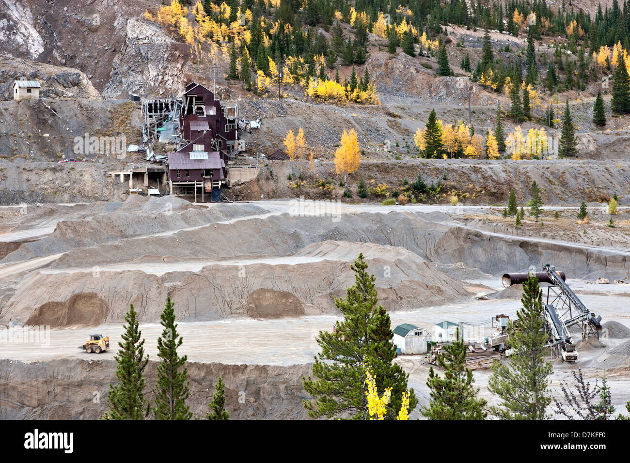 Restos de la antigua mina de Monarca, la producción de oro, plomo y zinc. Imagen De Stock