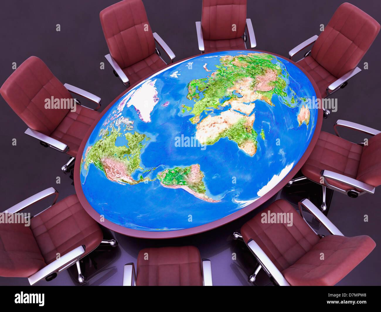 Las relaciones internacionales, imagen conceptual Imagen De Stock