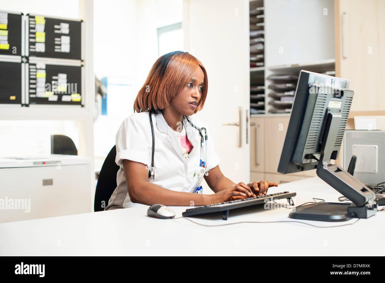 Enfermera del hospital Imagen De Stock