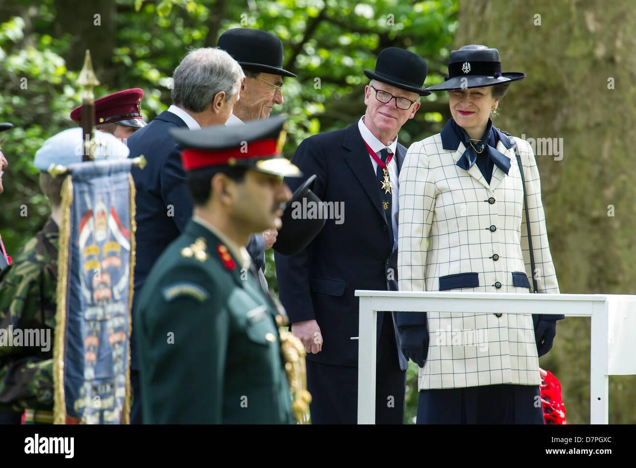 Hyde Park, Londres, Reino Unido 12 de mayo de 2013. Su Alteza Real la Princesa KG, KT, GCVO, Coronel en jefe del Imagen De Stock