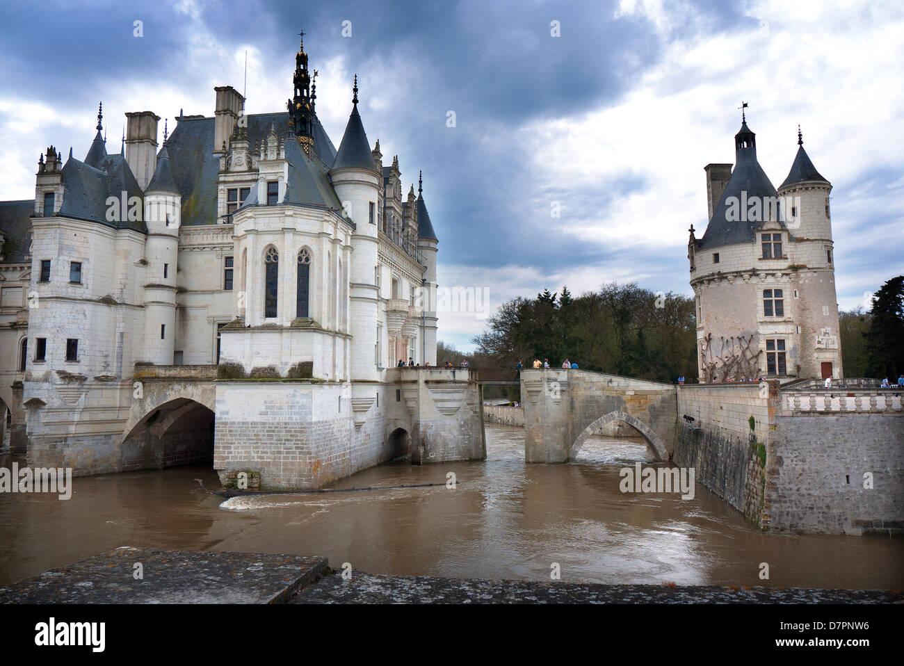 Château de Chenonceau, en el Loira, Francia. Imagen De Stock