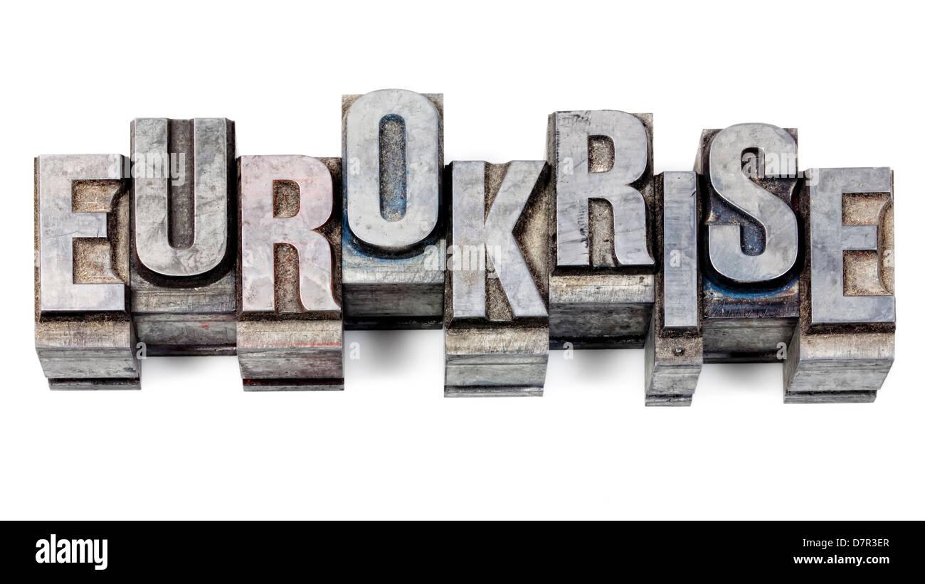 Ajuste de impresión de metal, cartas viejas de plomo para la tipografía Imagen De Stock