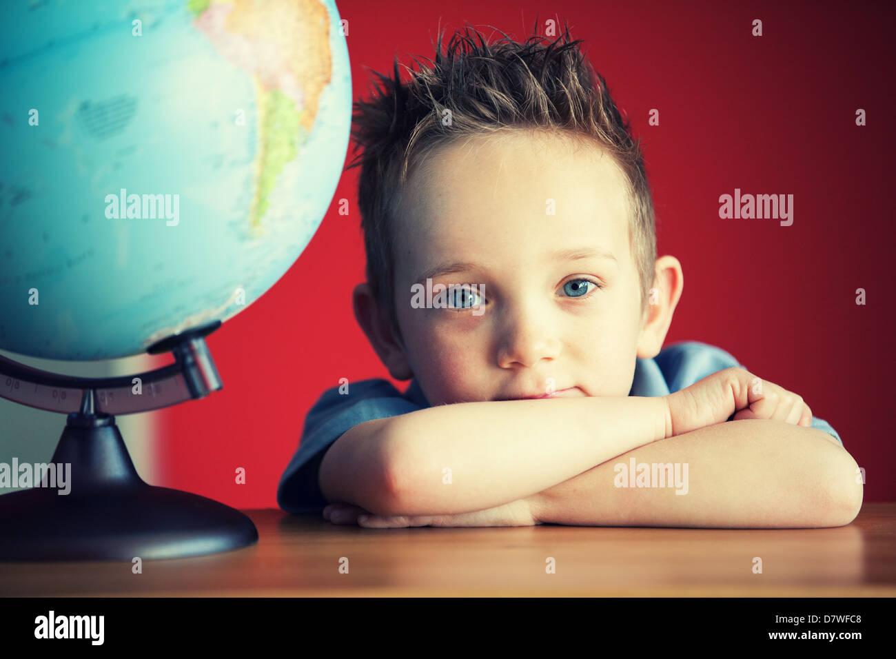 muchacho de la escuela Imagen De Stock