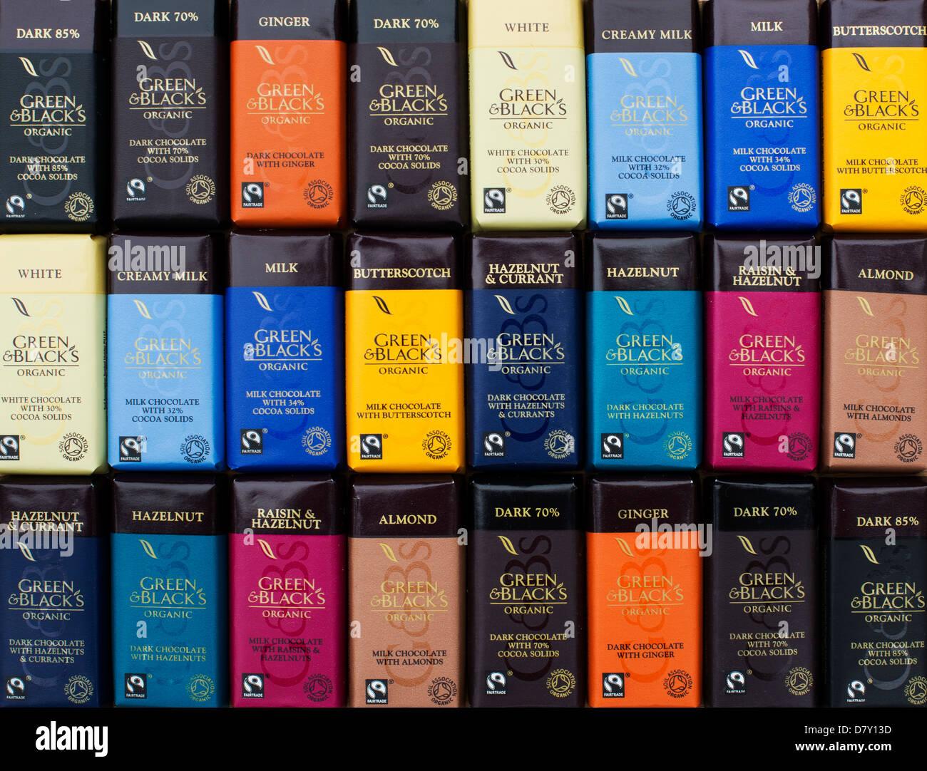 Verdes y Negros chocolate orgánico patrón Imagen De Stock
