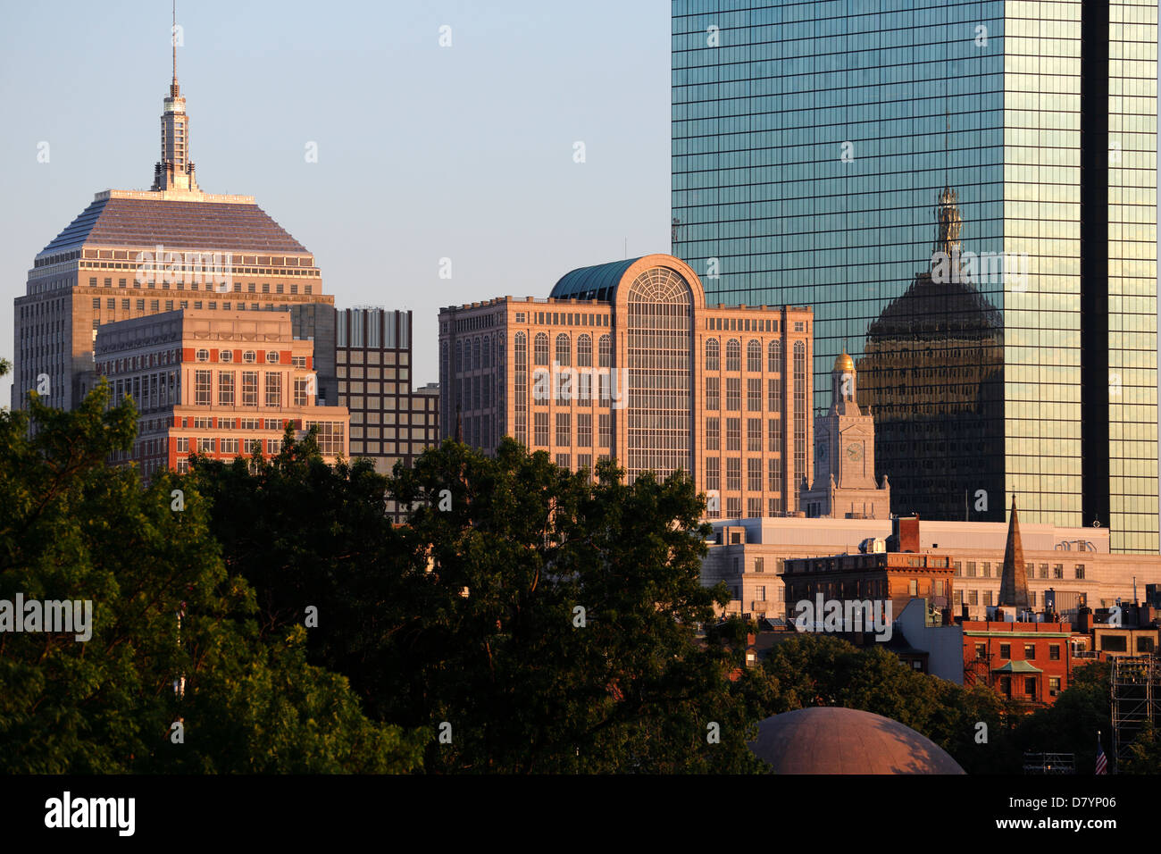 Horizonte de Boston Back Bay Imagen De Stock