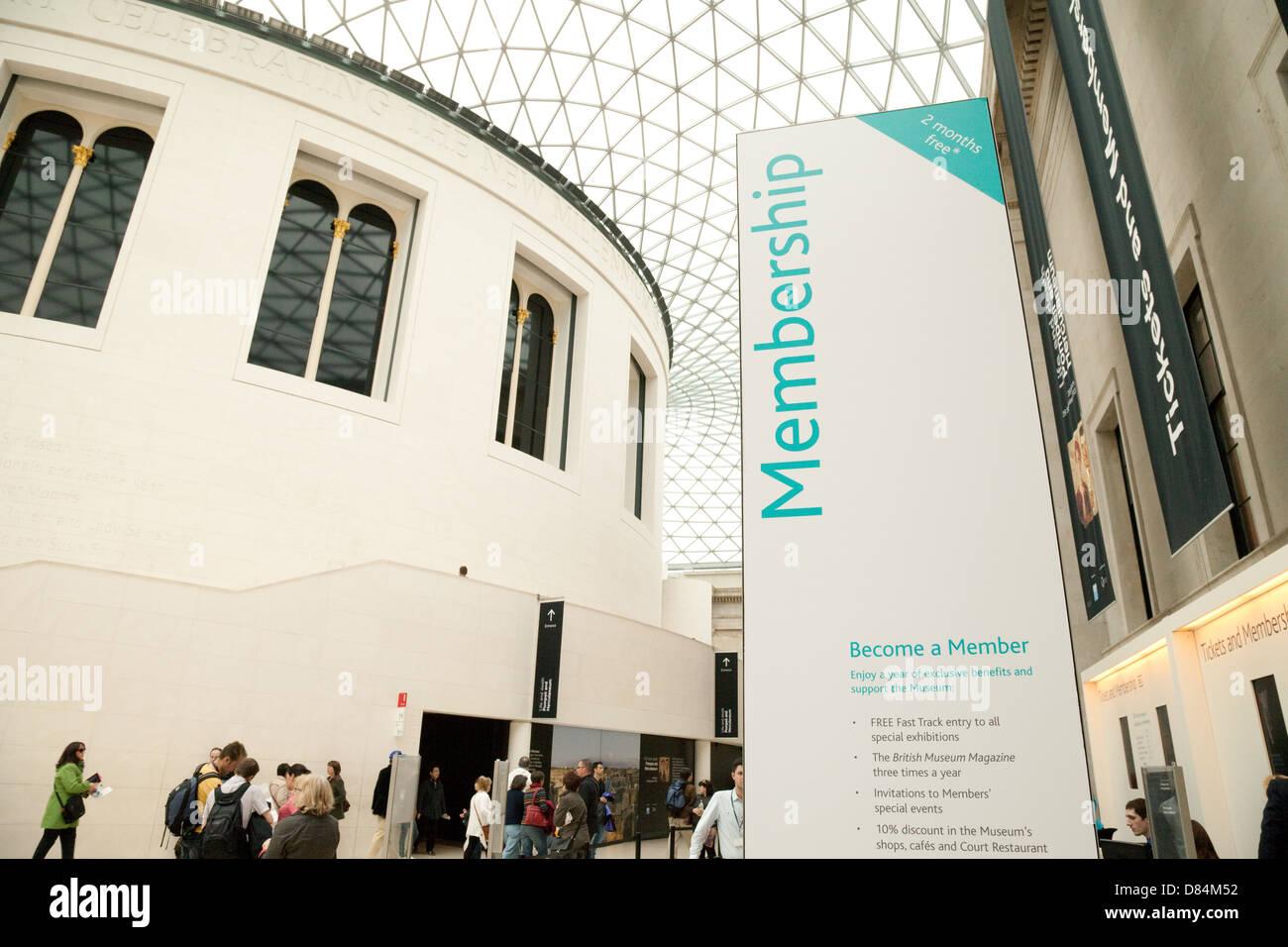 El área de pertenencia de la Great Court, el Museo Británico, Londres, Reino Unido Imagen De Stock