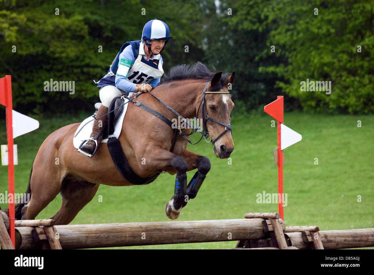 Hampshire: evento de cross-country ecuestre Imagen De Stock