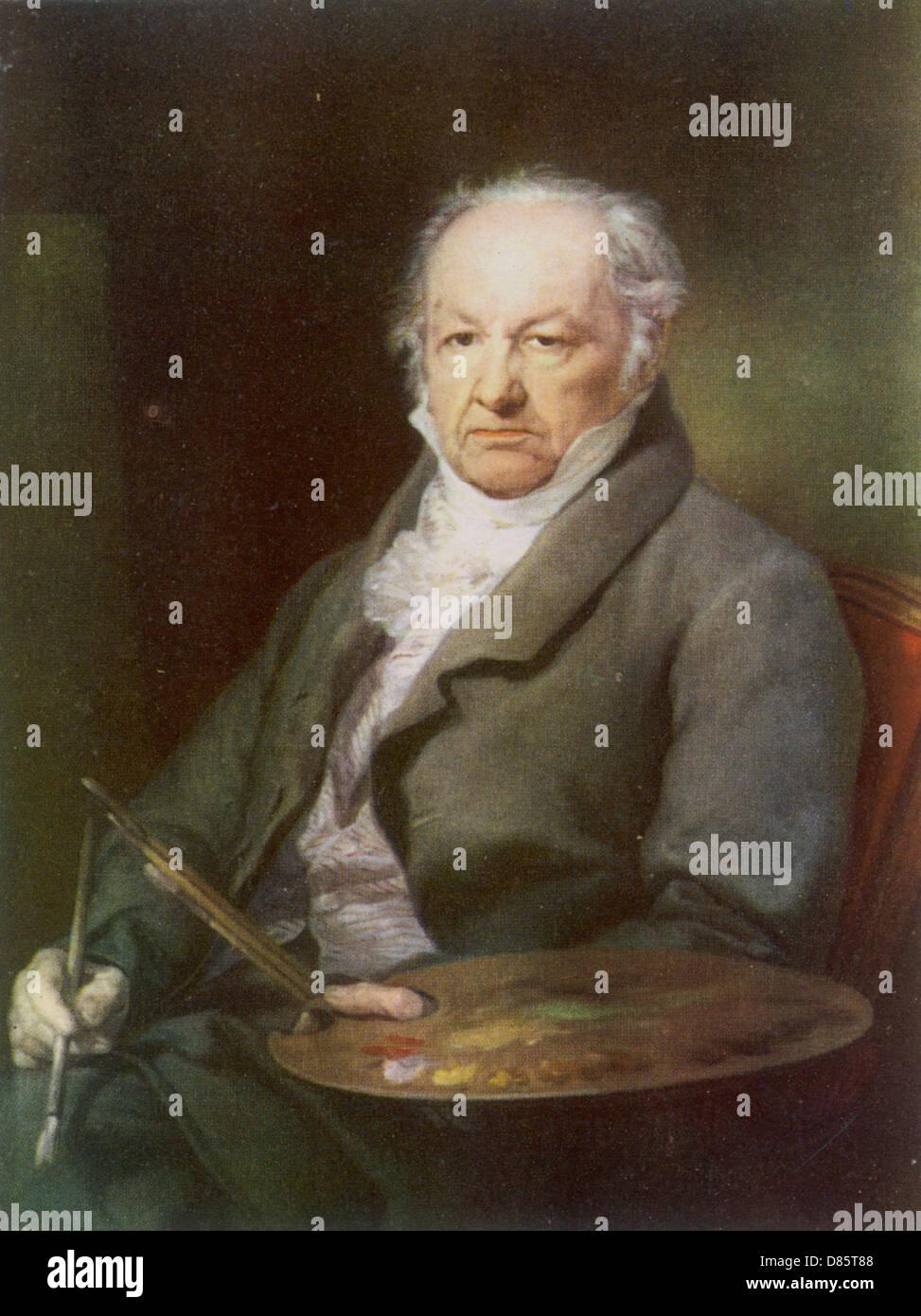 Francisco José de Goya y Lucientes Foto de stock
