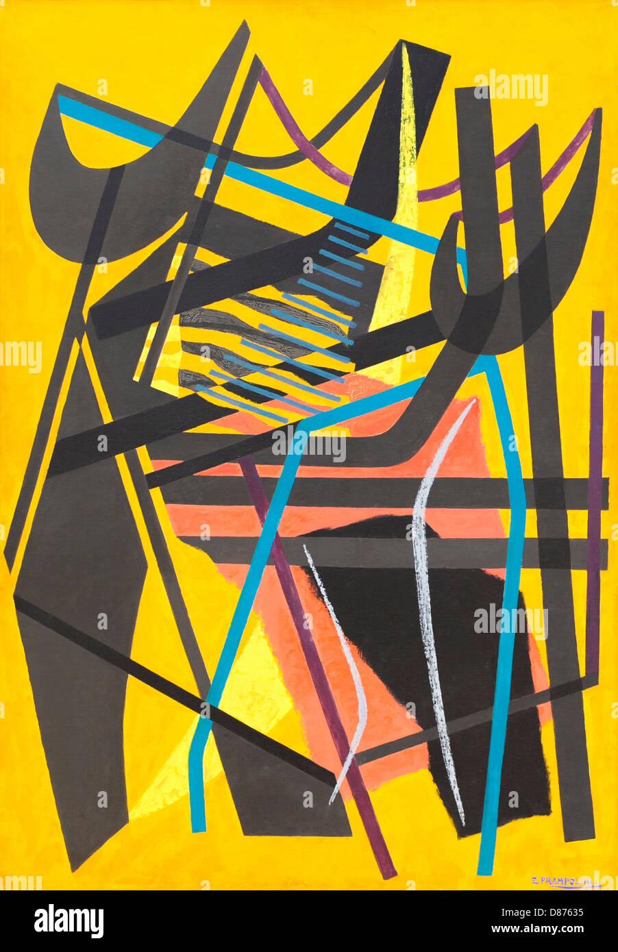 Tensión abstracta tensioni astratte número 1 (n. 1), Enrico prampolini Imagen De Stock