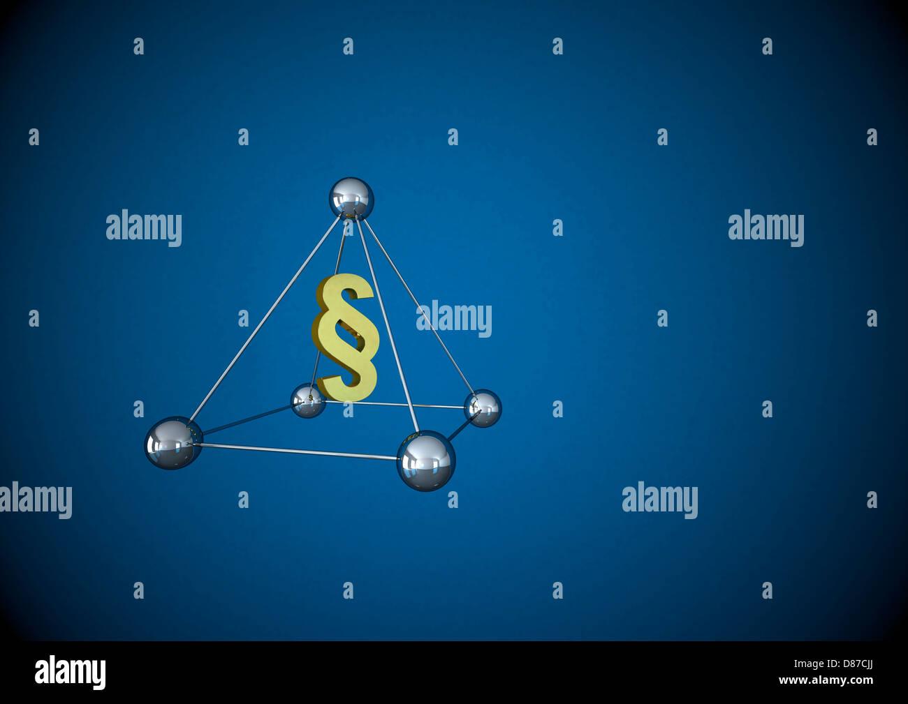 Ilustración de pirámide con signo de párrafo Foto de stock