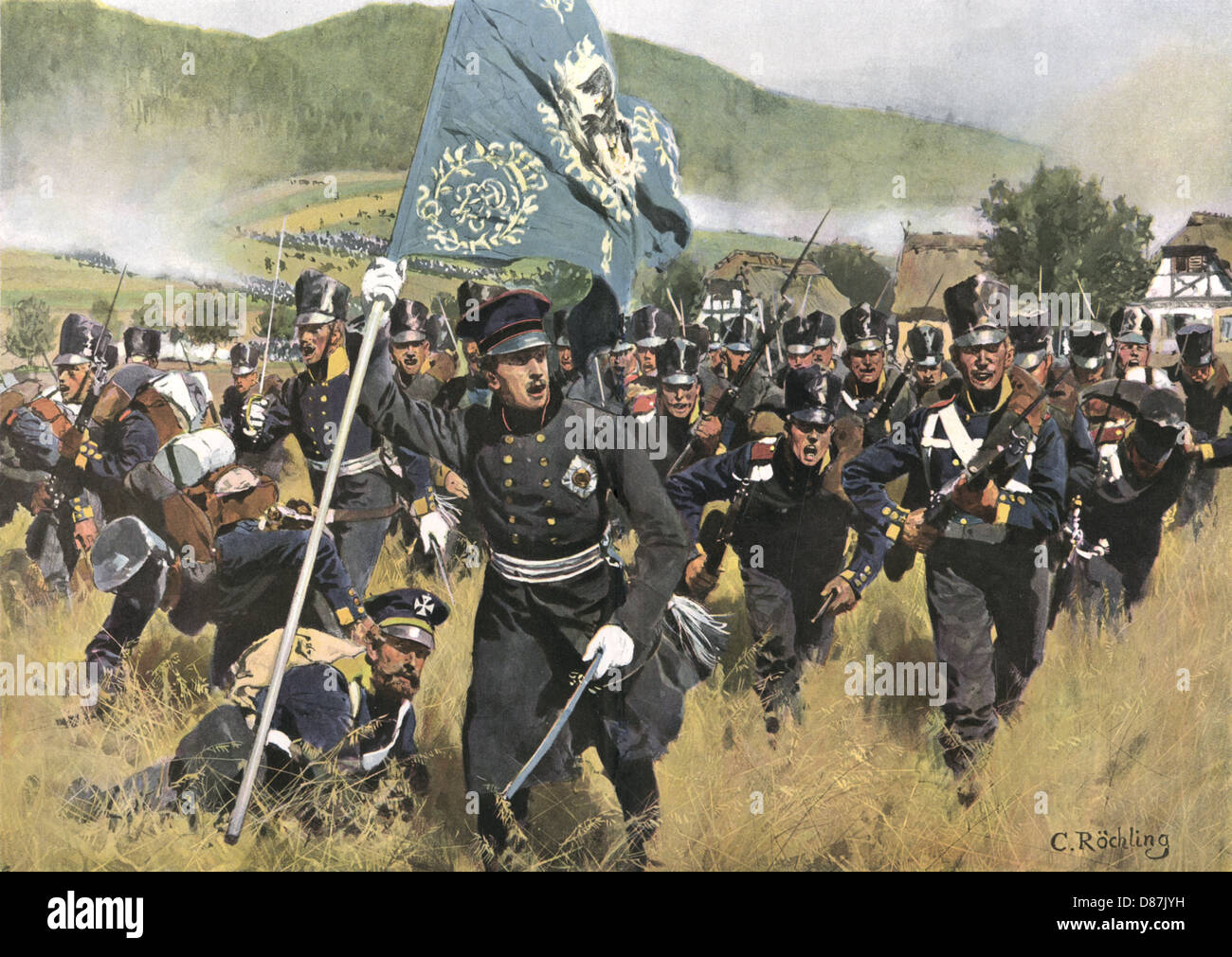 Guerras Napoleónicas 1813 Foto de stock
