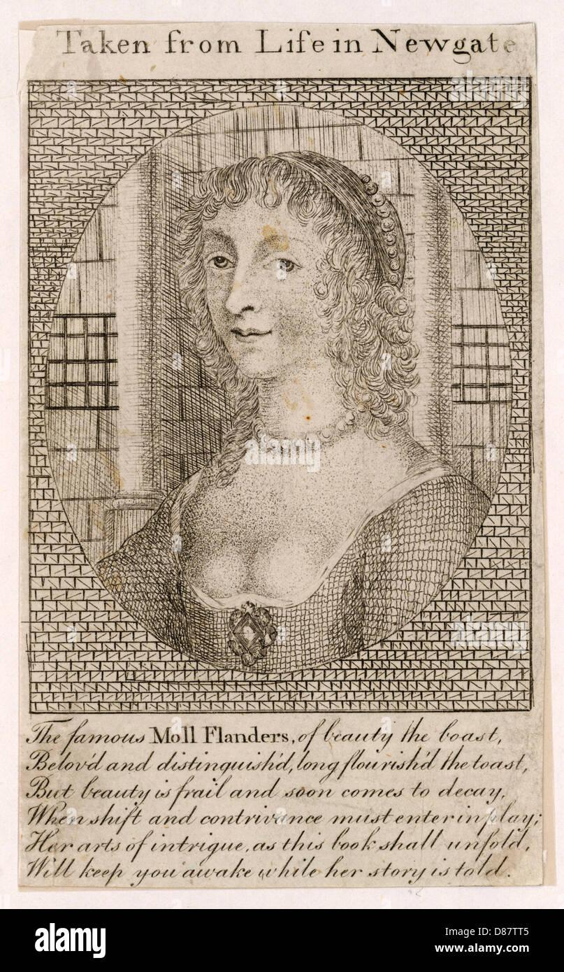 Historia de Moll Flanders Imagen De Stock