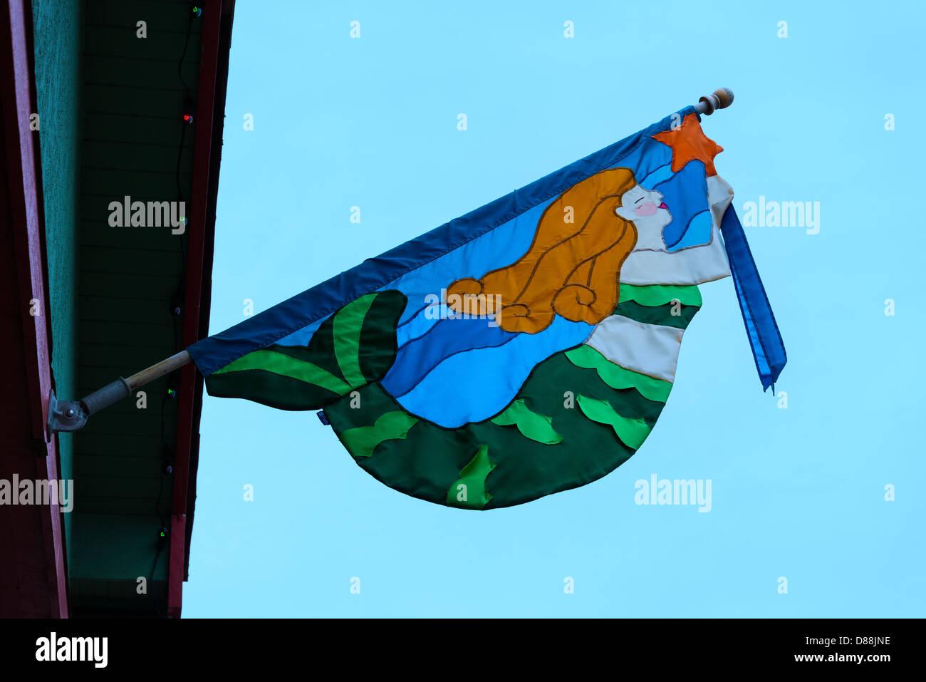 Bandera de la sirena. Imagen De Stock