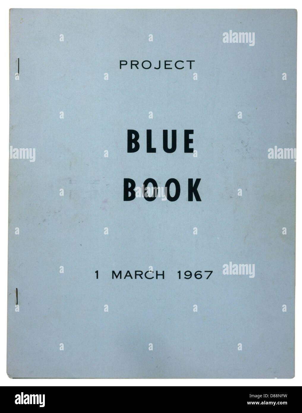 El Libro Azul descrito Imagen De Stock