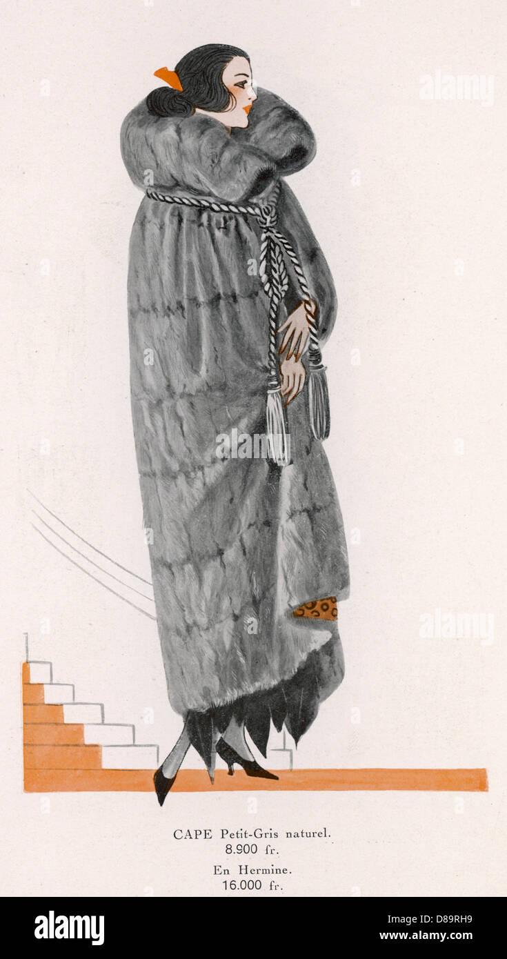 Petit Gris Manto 1922 Imagen De Stock