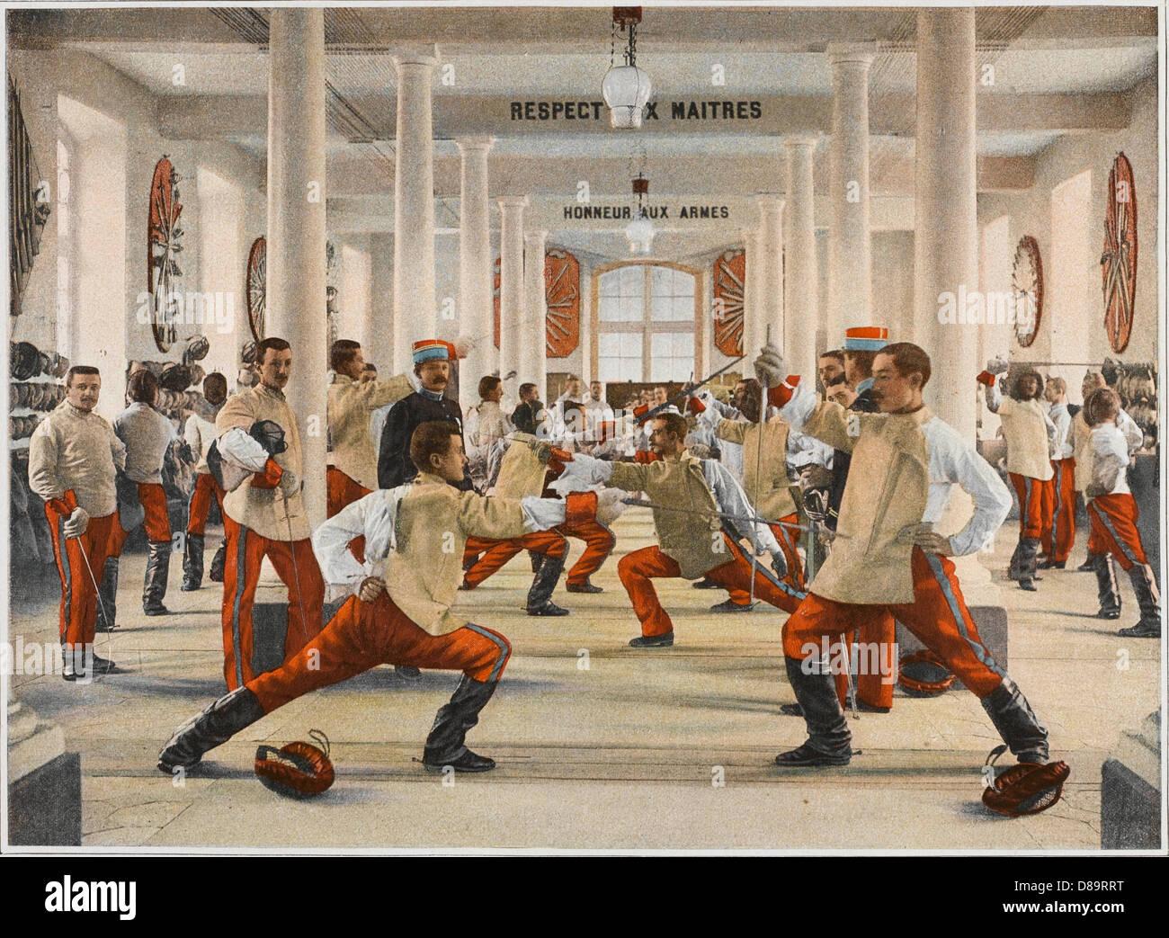 Esgrima en Saint Cyr Imagen De Stock