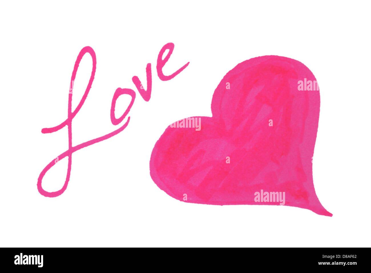 Amor corazón clip art. Imagen De Stock