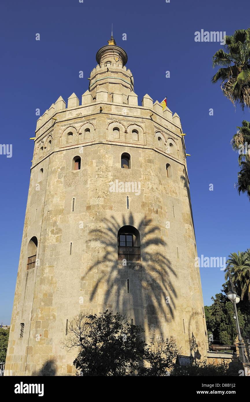 La Torre del Oro (Torre del Oro), Sevilla, España Imagen De Stock