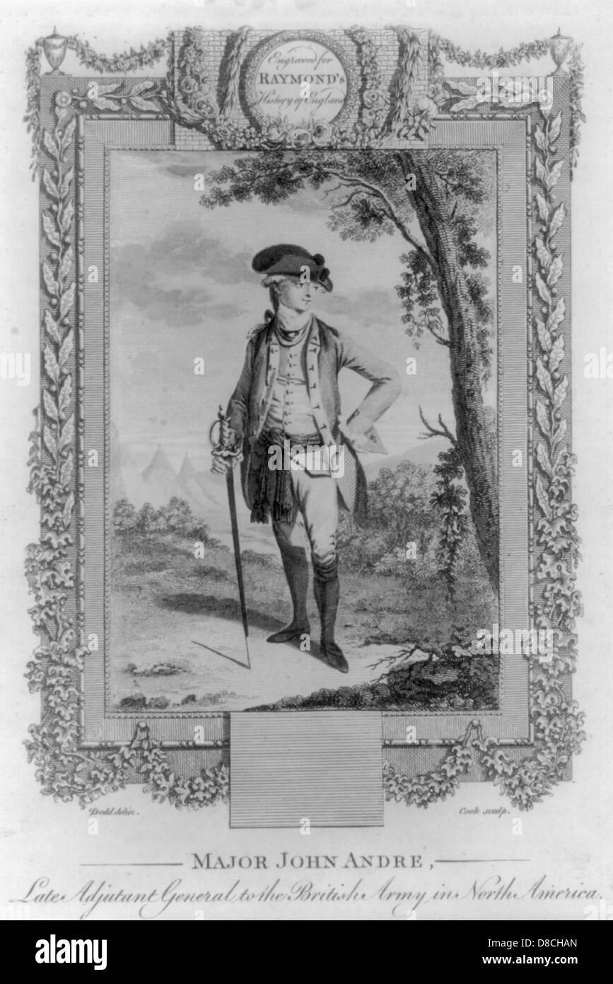 John André, tarde Ayudante General del ejército británico en Norteamérica, retrato de longitud Imagen De Stock