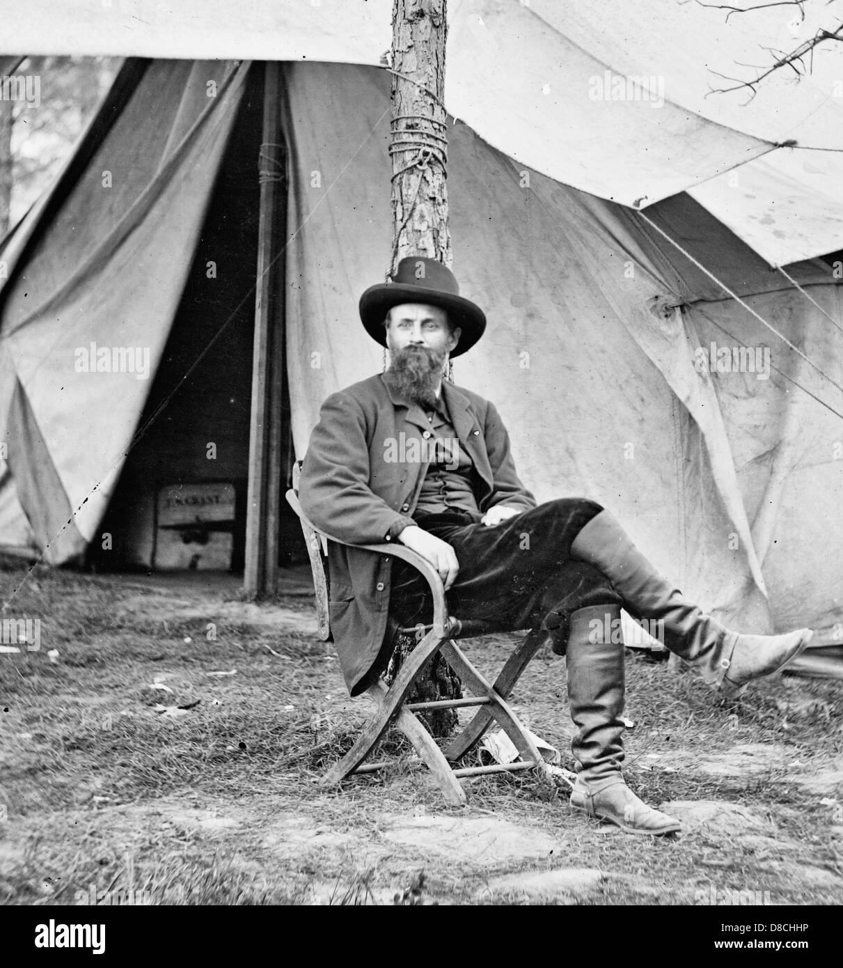 Puerto Frías, Virginia. Charles A. Dana, Subsecretario de Guerra, 1864 Imagen De Stock