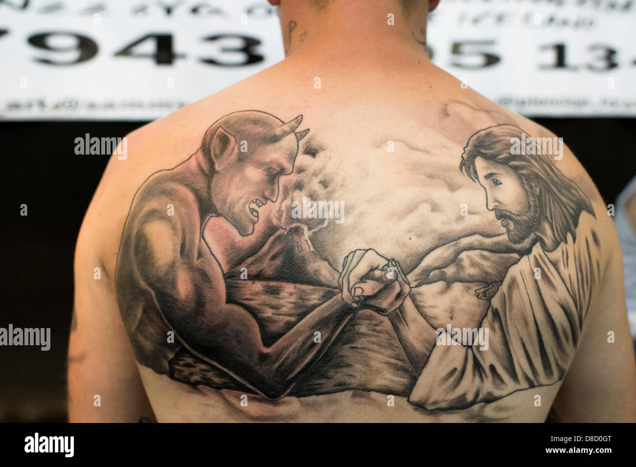 Good Evil Tattoo Imagenes De Stock Good Evil Tattoo Fotos De Stock