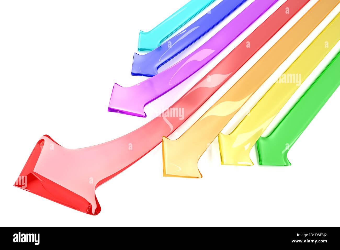 Flechas de colores Imagen De Stock