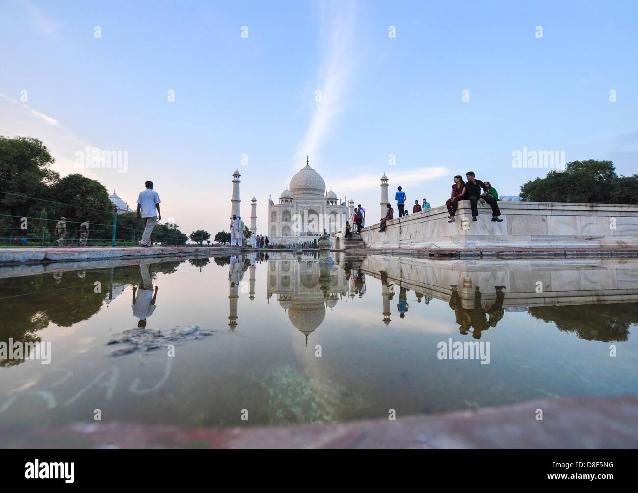 La India, Uttar Pradesh, Agra, el Taj Mahal Imagen De Stock