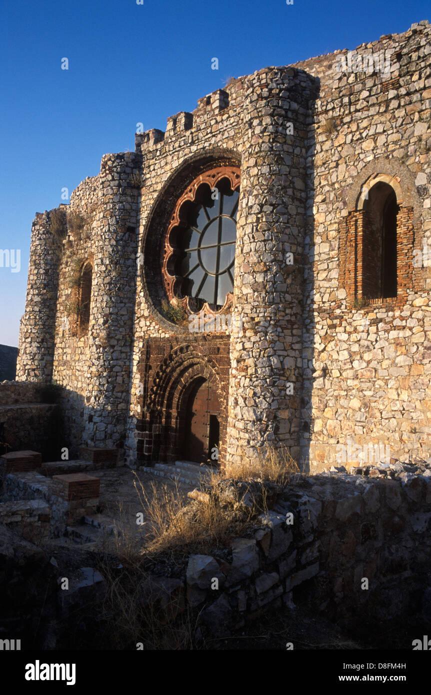 Castillo de Calatrava La Nueva, Convent-Castle, XII-XIII siglo Imagen De Stock