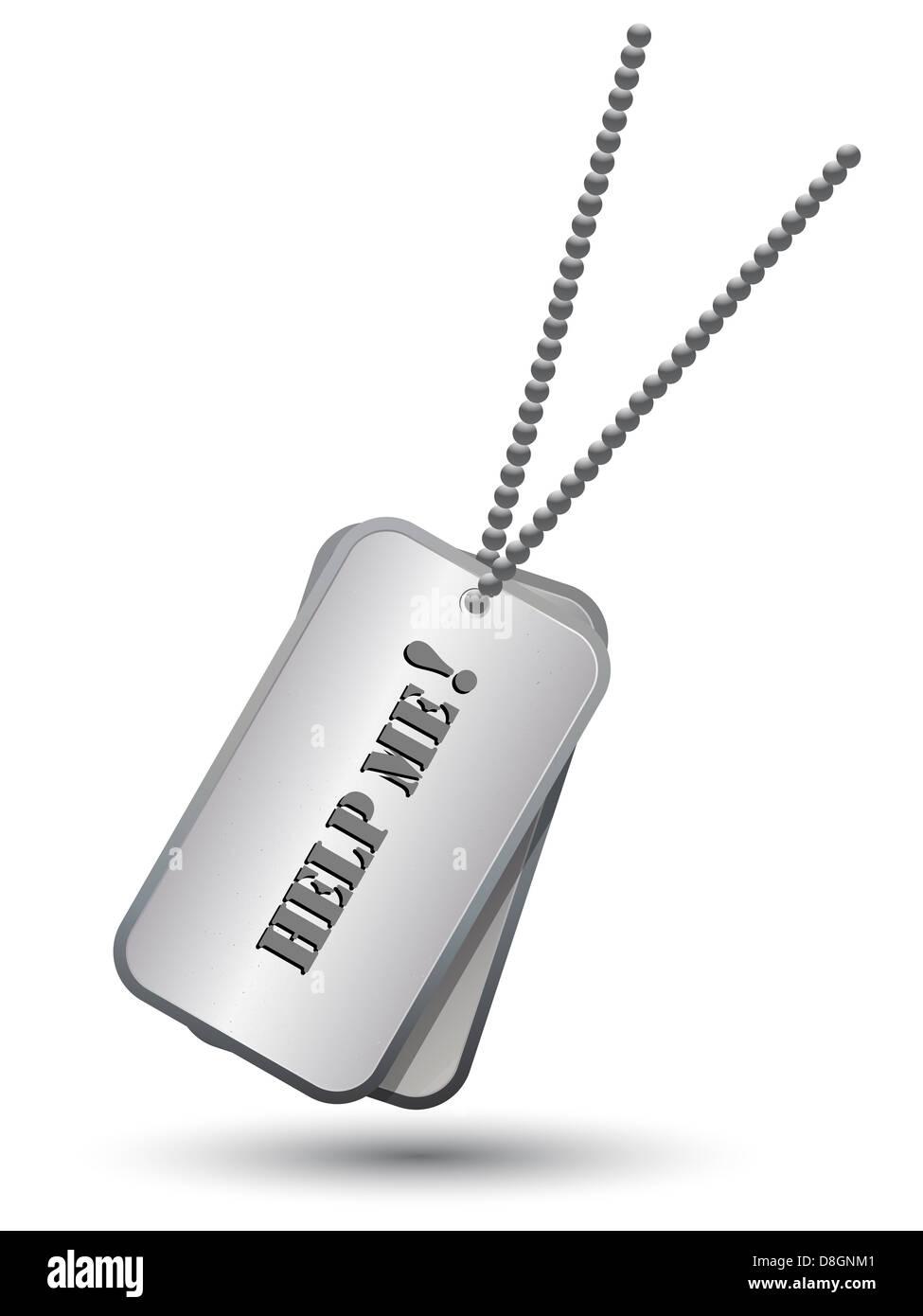 Etiquetas del ejército personalizado Imagen De Stock