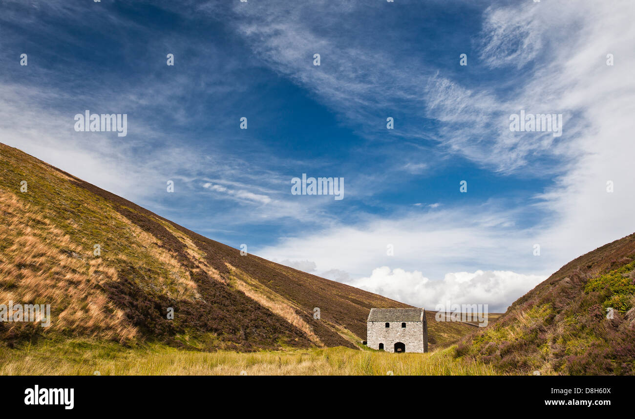 Antigua mina Lecht, Scottish Highlands, Scotland, Reino Unido Imagen De Stock