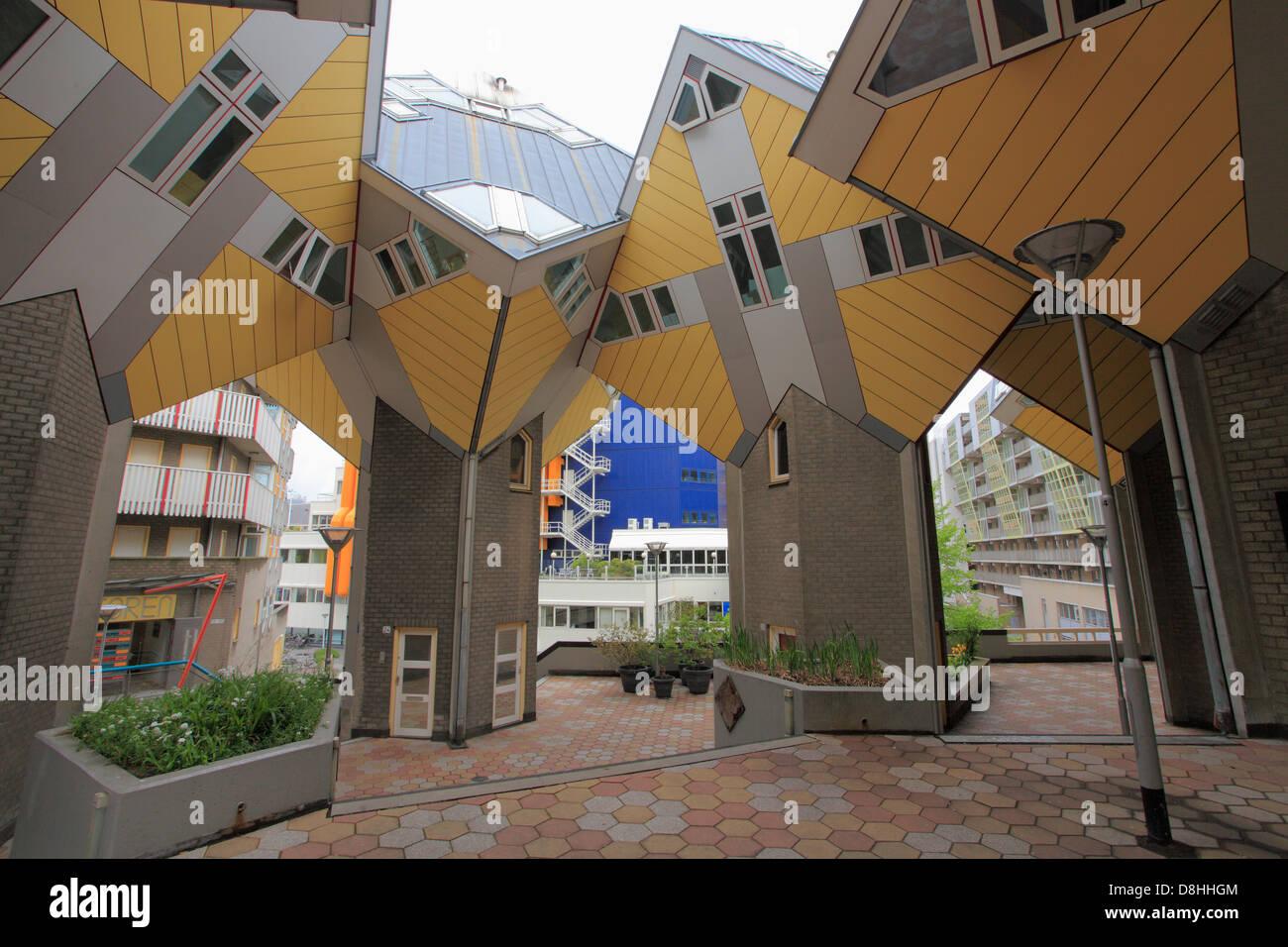 Países Bajos, Rotterdam, Kubus, cube apartamentos, Imagen De Stock