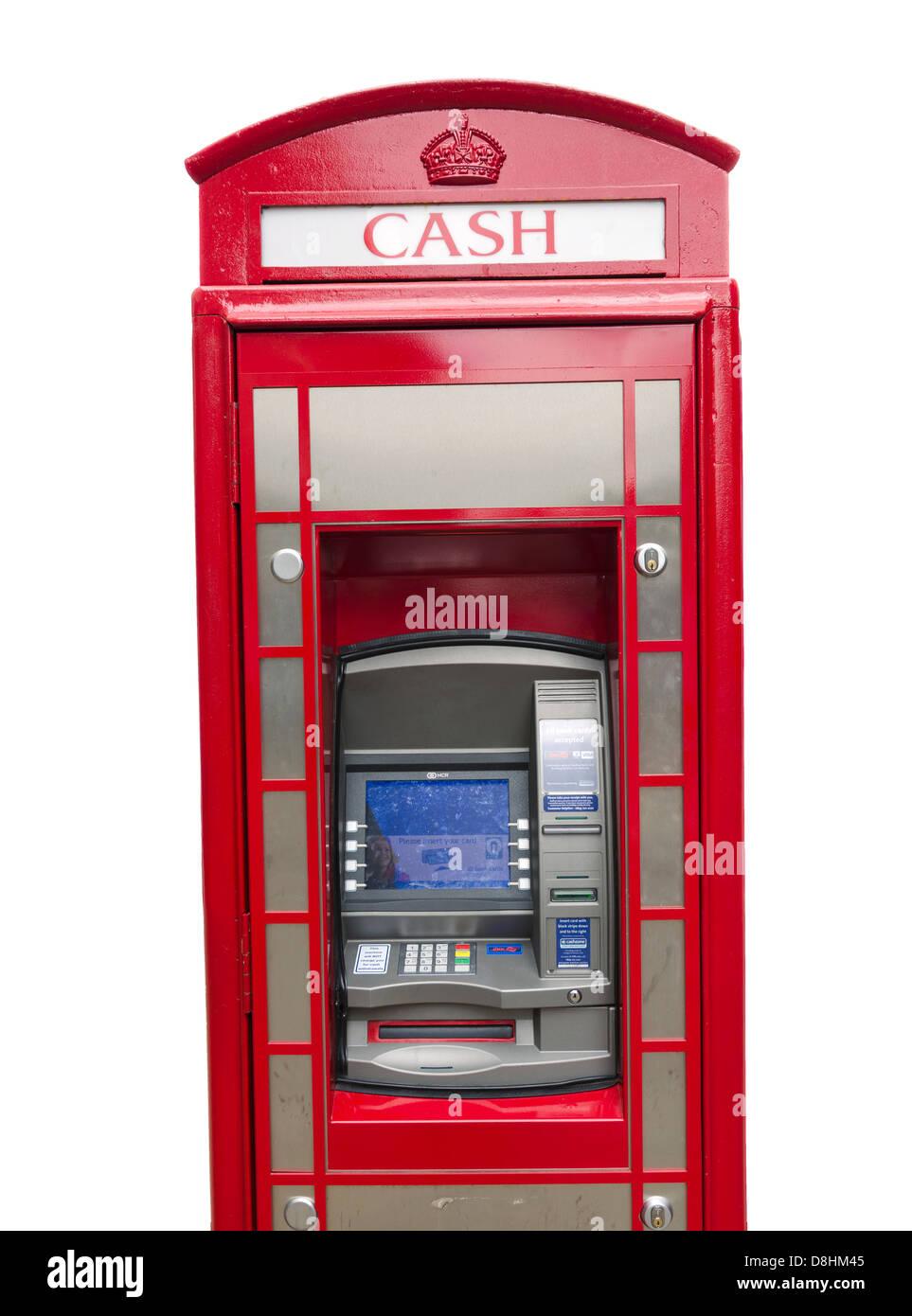 Cajero automático ATM incorporada en el cuadro Teléfono Imagen De Stock