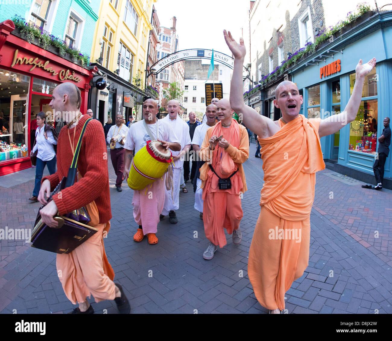 Hare Krishnas, Londres, Gran Bretaña. Imagen De Stock