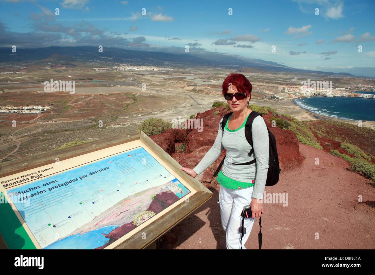 Caminar sobre la Montana Rocha Imagen De Stock