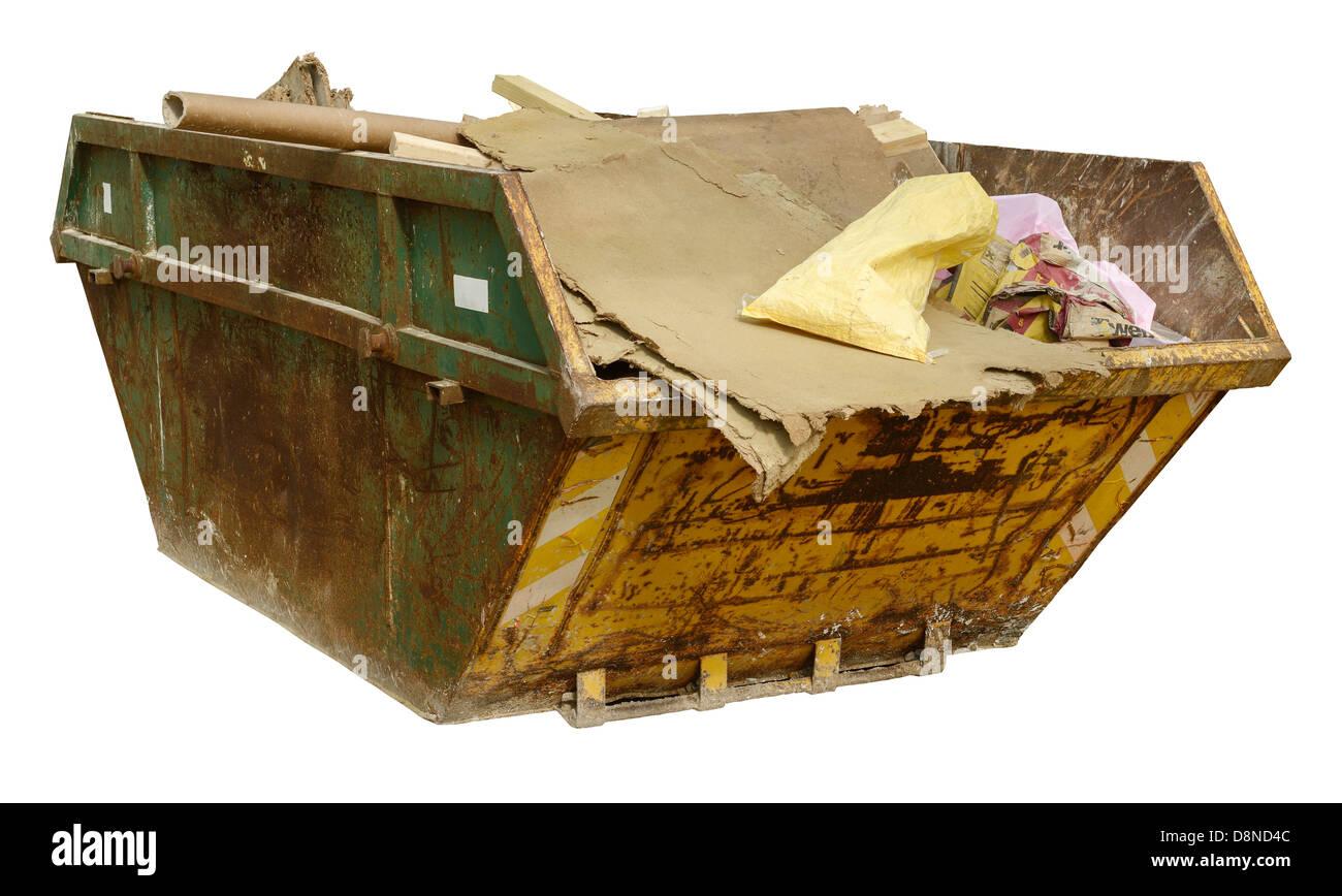 Sitio de construcción los residuos saltar Imagen De Stock