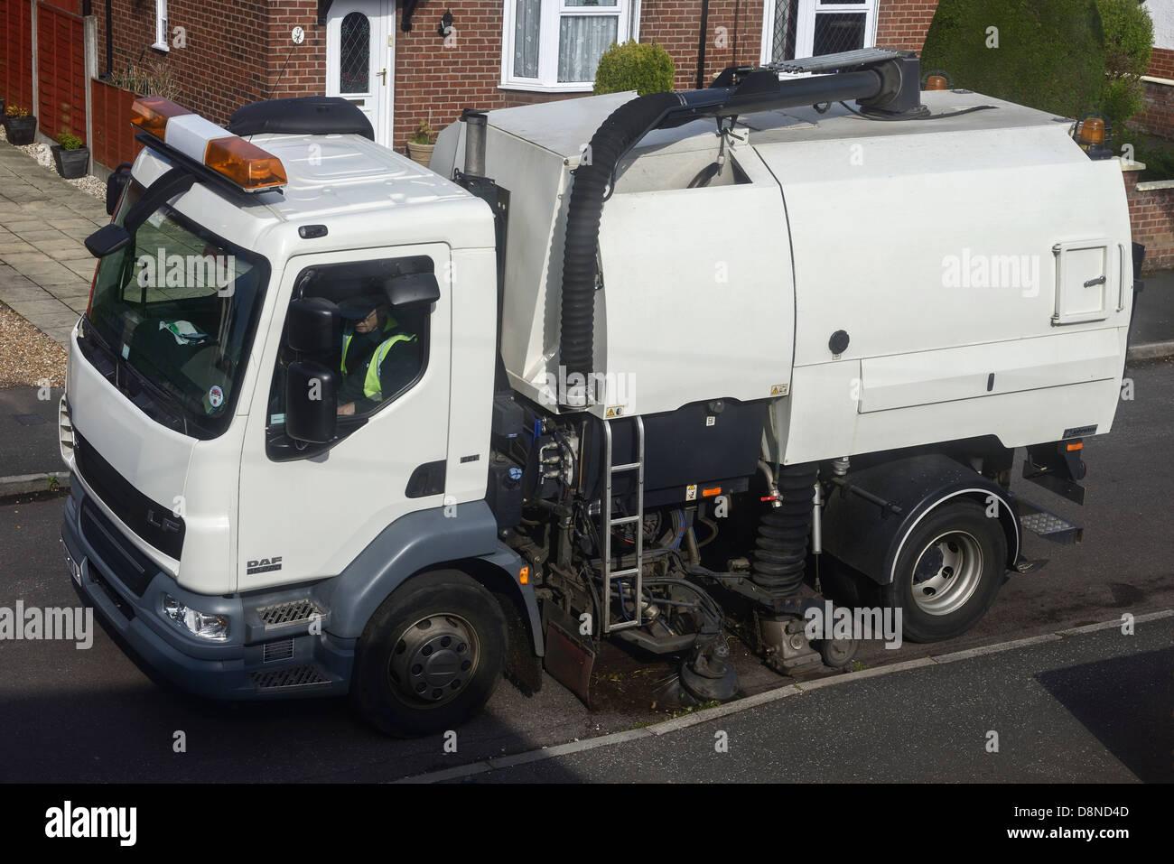 Carretera vehículo de barrido Imagen De Stock