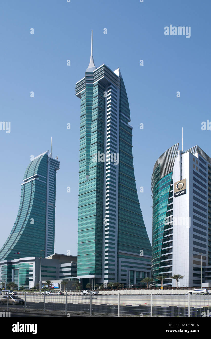 Puerto financieros complejos, Manama, Reino de Bahréin, Golfo Pérsico Imagen De Stock
