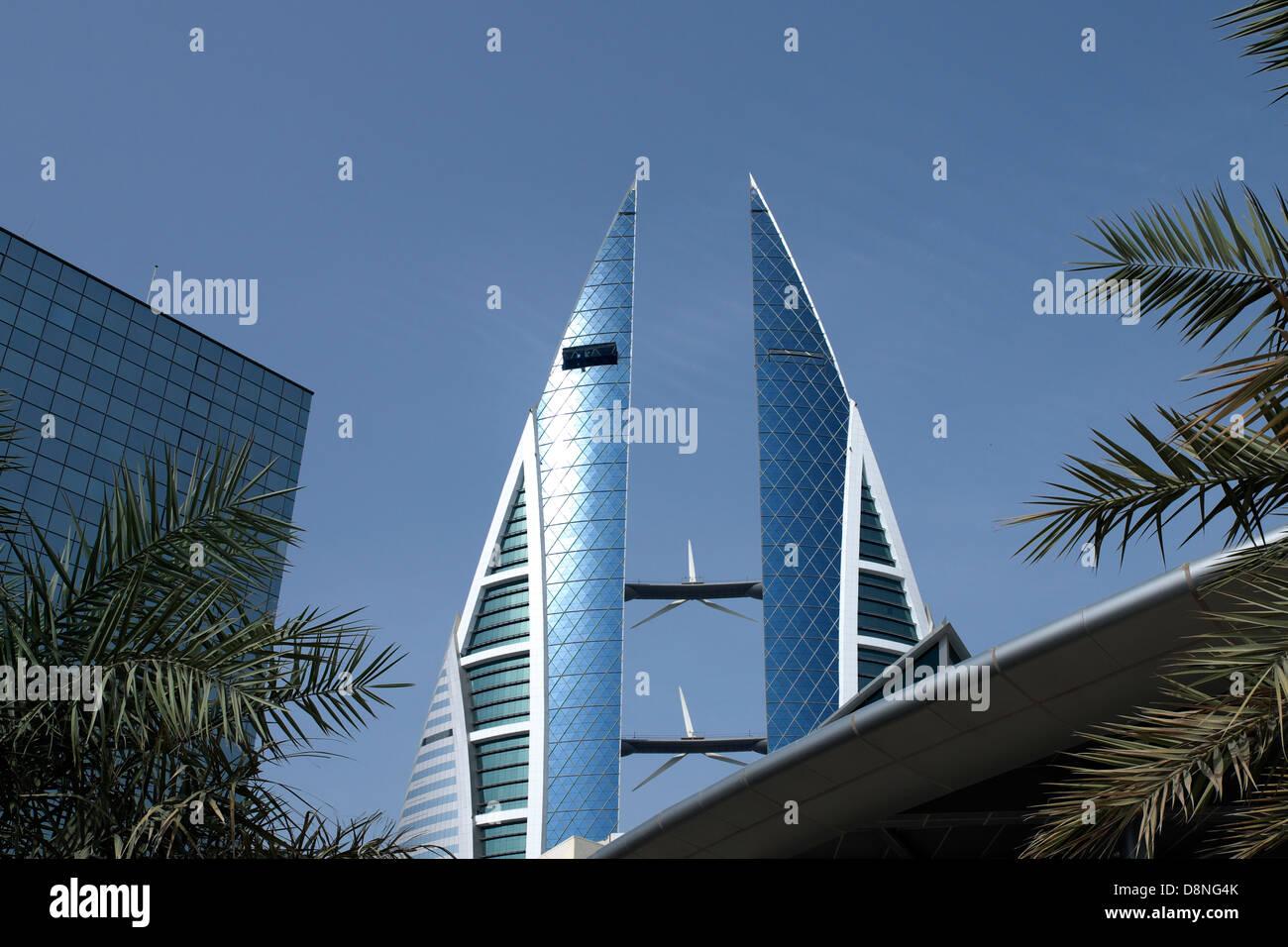 Complejo World Trade Center, Manama, Reino de Bahréin, Golfo Pérsico Imagen De Stock