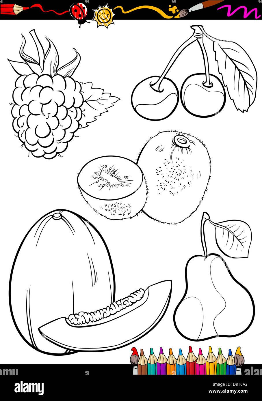 Libro Para Colorear Dibujos Animados Página O Ilustración De