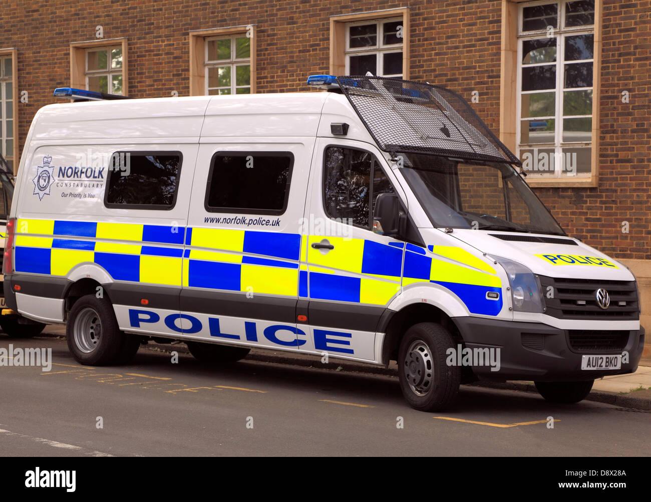 Norfolk Constabulary, furgón, vehículo, vehículos, Inglaterra Imagen De Stock