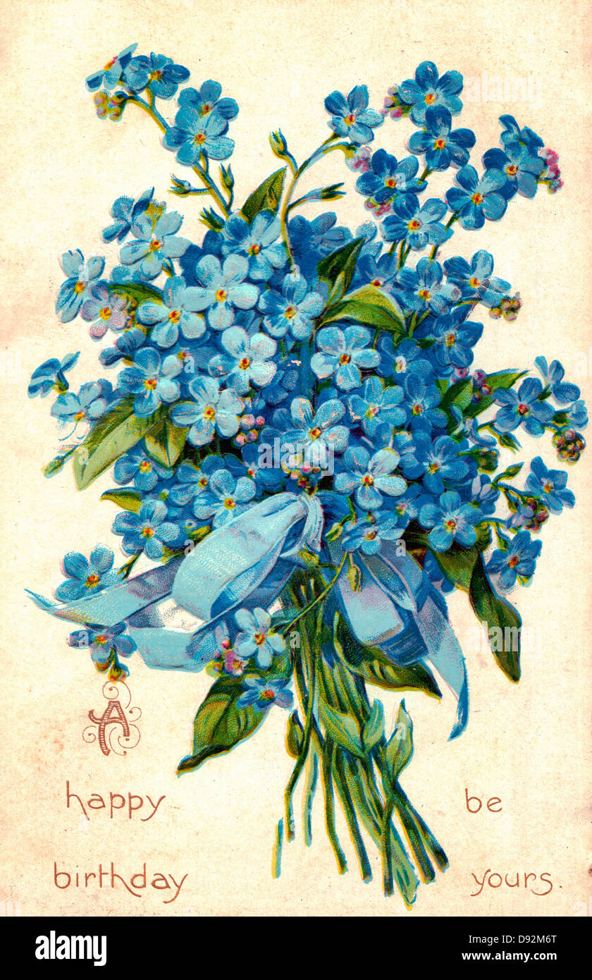 Un Feliz Cumpleanos Sera Tuya Tarjeta Vintage Con Flores Foto