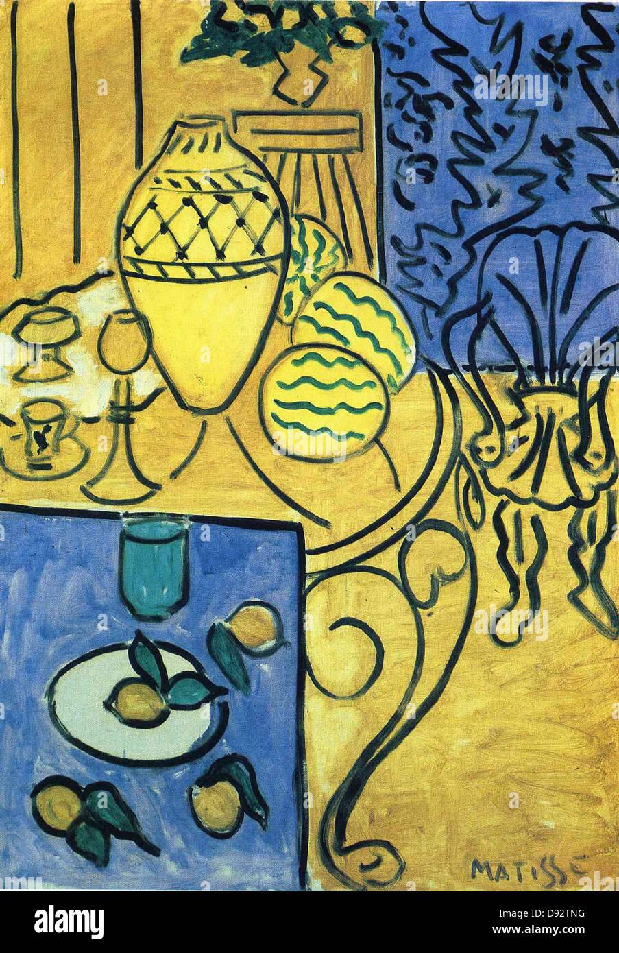 Henri Matisse interieur jaune en 1946 el Centro Georges Pompidou - Paris Foto de stock