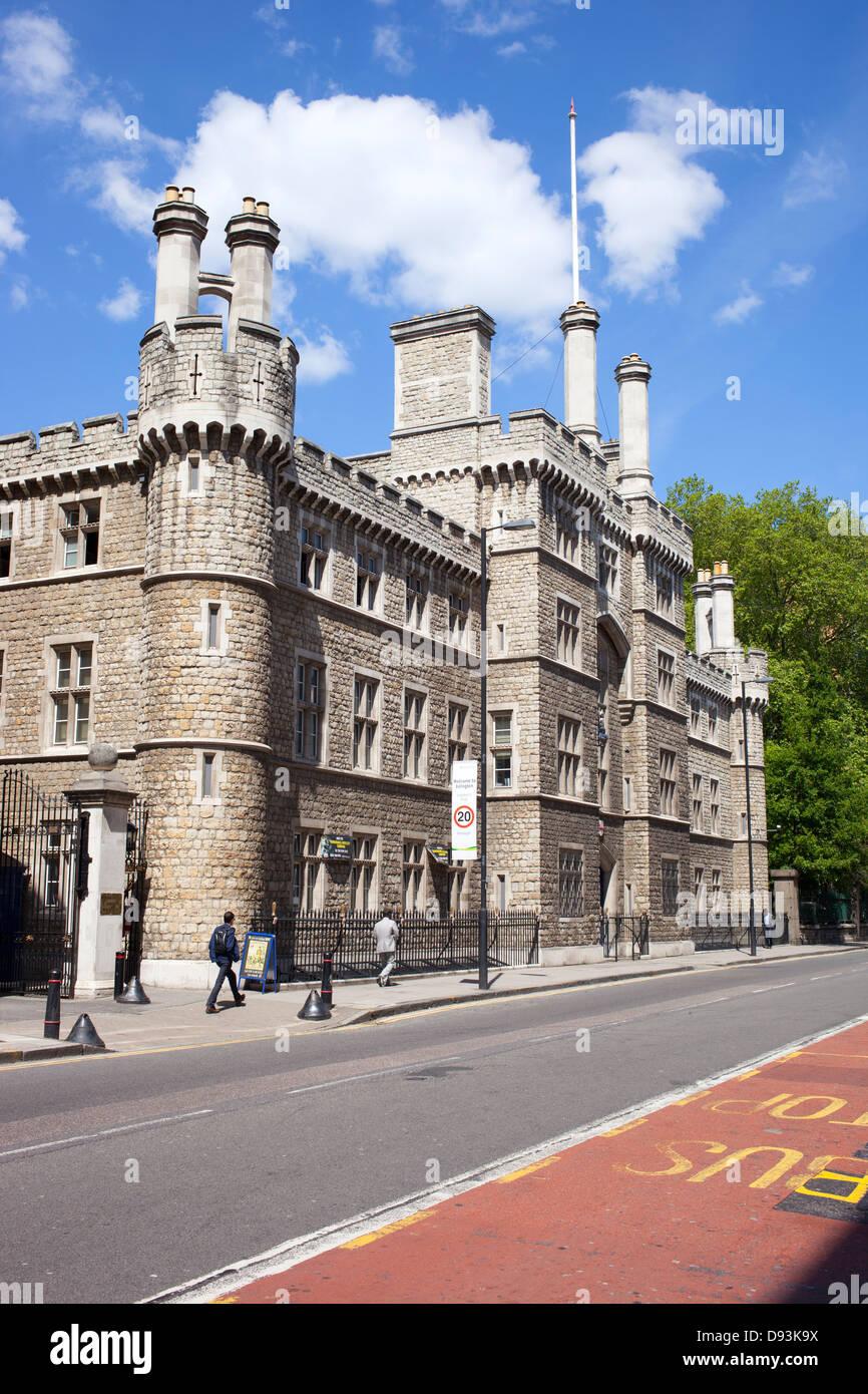 Casa de armería, Honorable Compañía de artillería (HAC) Edificio. City Road, Londres, Gran Bretaña. Imagen De Stock