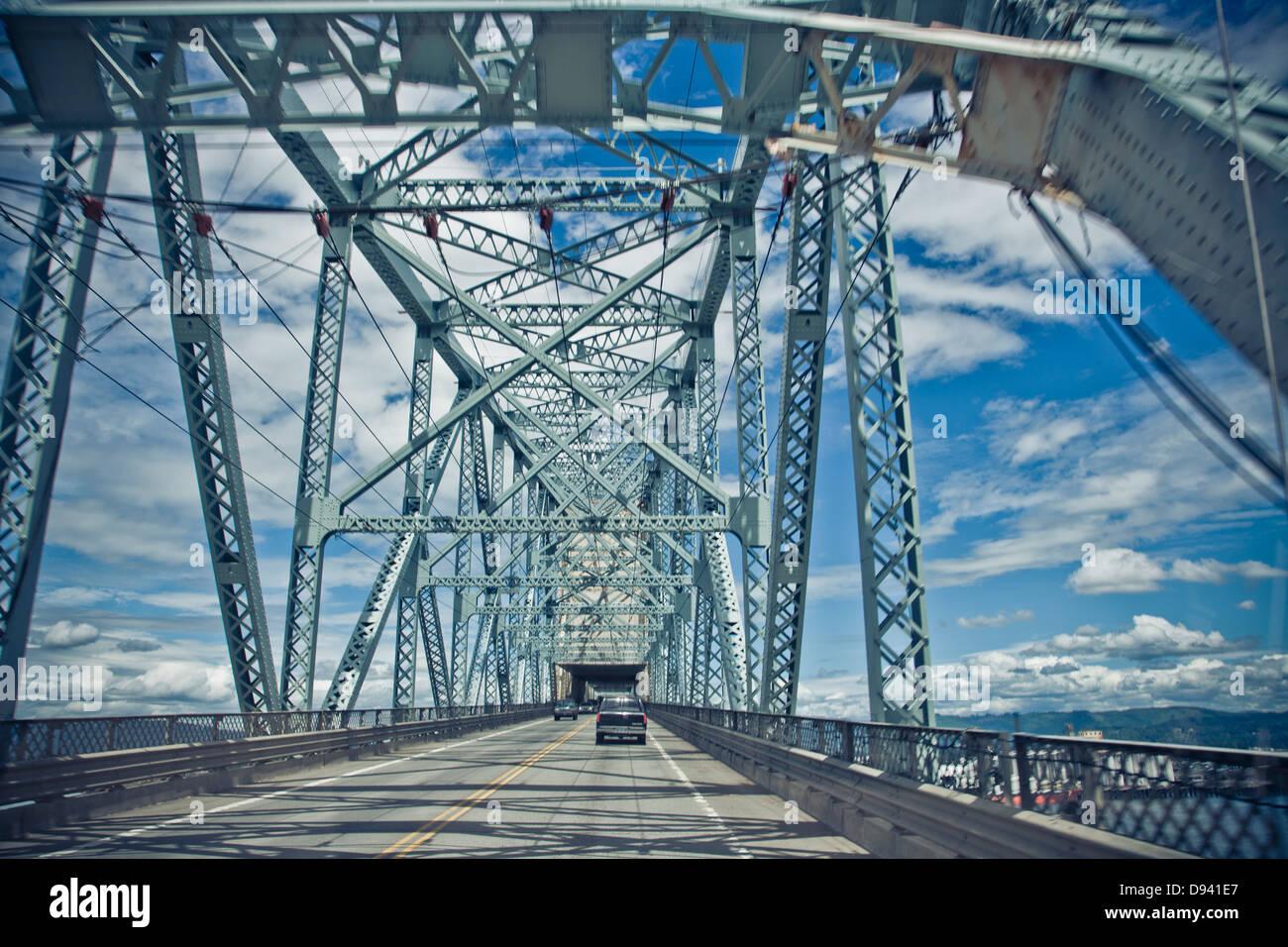 Detalles de metal puentes estructurado en Portland Imagen De Stock